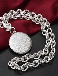 Повседневные - Медальоны Ожерелья ( Серебрянное покрытие )