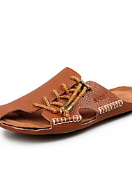 Men's Shoes Casual Leather Sandals Black/Brown/Yellow/White