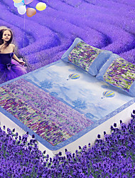 johnson impression 3d romantique lavande 3piece glace pliant tapis de soie 150 * 195 cm