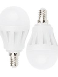 2 pcs Ding Yao E14 7W 21SMD 2835 350-450LM 2800-3500/6000-6500K Warm White/Cool White Globe Bulbs AC 220-240V