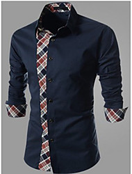 fantastic  Men's Casual Shirt Collar Long Sleeve Casual Shirts