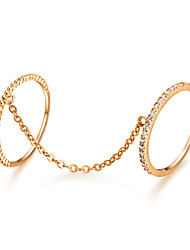 Woman's Fashion Elegant Gold-Plated Crystal Micro Insert Bracelets Ring
