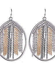 2015 Women's Fashion Contracted The Circle Earrings Gold-Plated Drop Earrings Silver Plated Jewelry