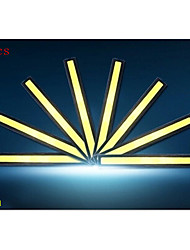 14cm 600-700lm éclairage diurne lumière blanche de couleur torchis drl lumière imperméable à l'eau de 10pcs (12v)