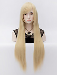 Victory in The European And American Wind The Human Hair Scalp Heat Wire Long Straight Hair Wig