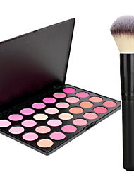Pro Party 28 Colors Face Blush Blusher Powder Palette + Powder Brush