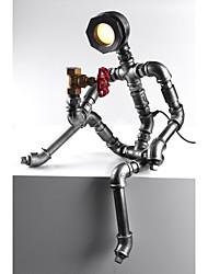 2015 luce robot luce moderna tubazione dell'acqua industriale lampada led scrivania caffè vintage bar negozio di stile loft metallo