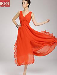 Muairen®Women'S Fashion Chiffon Dress Bohemian Beach Swing Dress