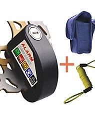 Pin 6 milímetros de segurança preto ladrão de moto bloqueio anti alarme freio a disco roda da motocicleta scooter com saco&cabo
