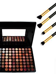 88 couleurs cosmétiques fard à paupières palette neutre + 4pcs crayon de maquillage pinceau