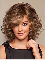 светло-коричневый микс полный объем локонов термостойкие волокна средней синтетический парик волос быстрая доставка