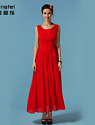 Women's Blue/Red/Green Dress , Casual Sleeveless