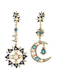 Haha New Arrival Fashion Hot Selling Popular Sun And Moon Earrings