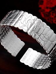 Zilver Unisex Cuff armband Armbanden