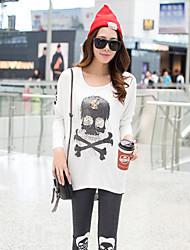 Women's Casual Micro-elastic Long Sleeve Long Blouse (Cotton Blends)