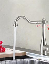 Shengbaier Centerset Deck Mounted Nickel Brushed Kitchen Faucet