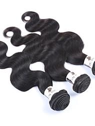 "3Pcs/Lot+8""-30""+Peruvian (Italian)Human Virgin Hair+ color(natural black)+Body wave"