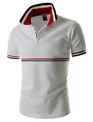 Herren Freizeit Polo  -  Einfarbig Kurz Baumwolle/Polyester