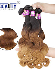 "1 Pc /Lot 16""-24""7A 3T Peruvian Virgin Hair Body Wave Human Hair Wefts 100% Unprocessed Peruvian Remy Hair Weaves"