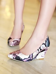 Women's Shoes  Wedge Heel Pointed Toe Pumps/Heels Office & Career/Dress Black/Yellow/Green/Multi-color