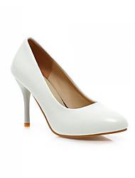 Women's Shoes Leatherette Low Heel Peep Toe Sandals/Pumps/Heels Office & Career/Dress Black/Purple/White/Beige
