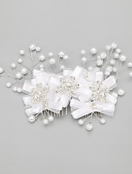 Women's/Flower Girl's Rhinestone/Alloy/Imitation Pearl Headpiece - Wedding/Special Occasion Hair Combs 1 Piece