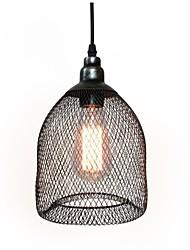 WestMenLights Metal Mesh Pendant Light Industrial Iron Wire Hanging Lamp 1960s Handmake Black 180mm Diameter