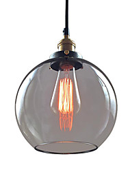 WestMenLights Vintage Glass Globe Pendant Light Ceiling Lamp Bubble Hanging Lighting Smoke Clear Blue 200mm Diameter
