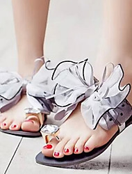 Women's Shoes Fabric Flat Heel Toe Ring Comfort Sandals/Slippers