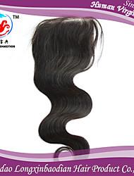 "18""Indian Remy Human Hair Silk Straight Top Closures,Stock Human Hair Wholesale 4*4 Top Closure"