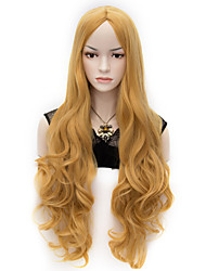 80cm U Party Curly Cosplay Party Wig Multi colors available Golden Color
