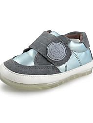 Baby boys Shoes Outdoor/Casual Suede/Faux Leather toddlers trainers Fashion Sneakers Gray/Blue