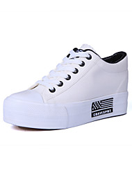 Scarpe Donna - Sneakers alla moda - Tempo libero / Ufficio e lavoro / Casual - Comoda / Punta arrotondata - Zeppa - Tessuto -Nero / Blu /