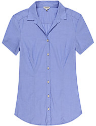 Women's Cotton Short Sleeve Blouse