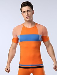 Male Sports fitness T-Shirt Function Material Elastic Tight-fitting Shapewear T-Shirt(Assorted Colors and Sizes)