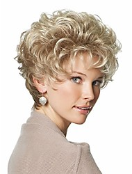 Classic Pixie Synthetic wigs Short Curly hair Blonde wigs for women Natural wigs with bangs