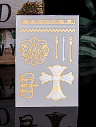 4PCS Flash Tattoo Body Tatto Gold Tattoo Metal Tatoos Metallic Tattoo Flash Taty Tatoo Tatouage Temporary Tattoo Sticker