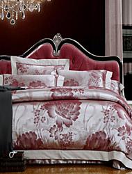 tencel yuxin® jacquard de algodão série do casamento 4 peça oca cama conjunto completo