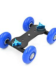 MENGS® 4-Wheel Desktop Tabletop Dolly Car Truck Skater Slider for DSLR Video Camera - Blue