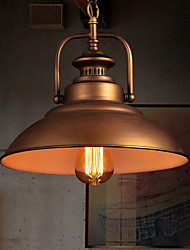 MAISHANG® Retro Pendant Light with Metal Umbrella Shade in Old Factory Style