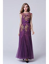 Formal Evening Dress Sheath/Column High Neck Floor-length Dress