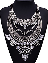 jq Schmuck großen Namen silbernen Metall-Stil böhmischen Perlen Quaste Halskette