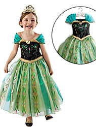 vestido de la princesa Anna maxi de la niña