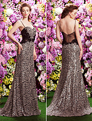 TS Couture Formal Evening Dress - A-line Spaghetti Straps Sweep/Brush Train Sequined