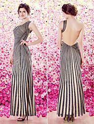 ts-Couture-Abendkleid - Mantel / Spalte einer Schulter bodenlangen Strick