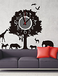 DIY 3D Cartoon Forest Animal Paradise Wall Clock