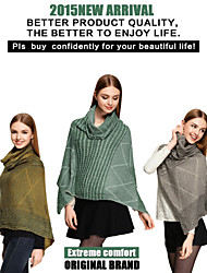 Sjaals 2015CSZM Scarves women Cape Poncho Winter Casual Sweater Poncho Echarpe Sweater Cardigan Shawl cachecois feminino