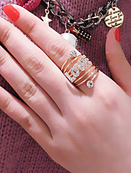 Fashion Multilayer Loop Inlay Diamond Word LOVE Rings (1pc)