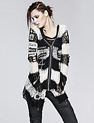 do punk delírio m-004 do vintage das mulheres / sexy inelástica pullover médio de manga longa