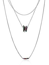 Irregular Stone Crystal Beads Necklace